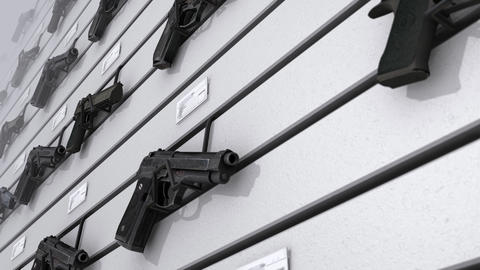 Gun Display Wall stock footage