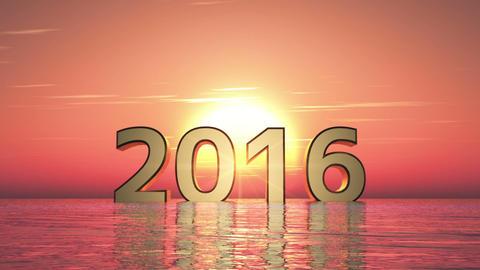 2016年 日の出 Animation