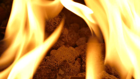 Fireplace Flame - Loop - 06 stock footage