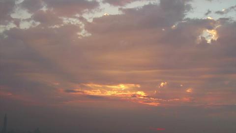 SNY50406P05- 2389 新北大尖山遠眺台北城 落日與夕采 Footage