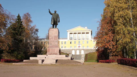 monument to Vladimir Lenin Footage