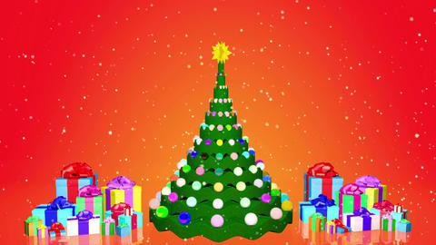 Christmas tree with gifts animation Animation