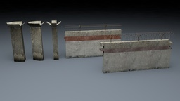 Berlin Wall 1st gen Elements 3D Model