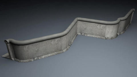 Berlin Wall 2nd gen Elements 3D Model