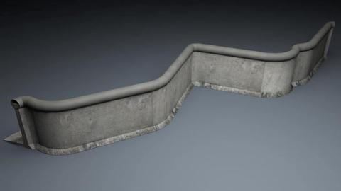 Berlin Wall 2nd gen Elements 3D Model