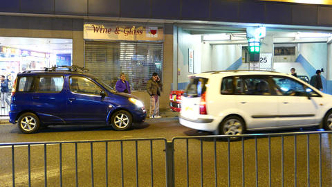Car accident on the night street of HongKong Stock Video Footage