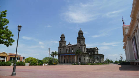 Santiago of Managua Cathedral and Museum National Palace... Stock Video Footage