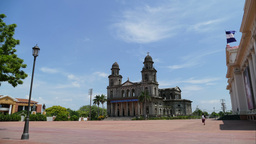 Santiago of Managua Cathedral and Museum National Palace of the Culture Footage