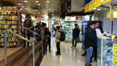 Buying-up section in shopping centre, quick scene on the way Stock Video Footage