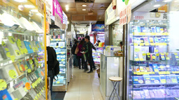 Bright interiors of phone and accessories shop Stock Video Footage