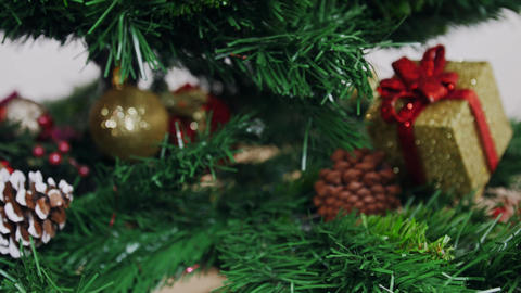 Decoration of Christmas tree angel doll toy Stock Video Footage