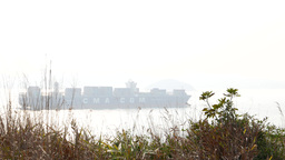 Miracle container vessel on the sea, contrast light,... Stock Video Footage