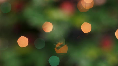 Colorful bokeh of Christmas lights tree. Static Stock Video Footage