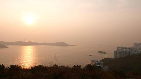 Beautiful seascape early evening sunset, sun light... Stock Video Footage