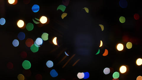 Christmas ball rotates at background of bokeh Stock Video Footage
