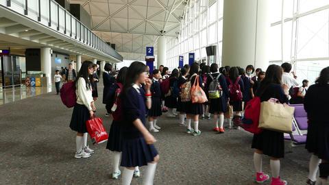 Group of asian scholars children listen teacher at... Stock Video Footage