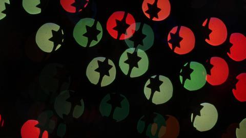 Star lights bokeh on black background. Shape Stock Video Footage