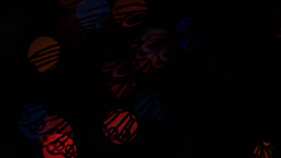 Butterfly lights bokeh on black background. Shape Stock Video Footage