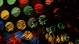 Butterfly Lights Bokeh On Black Background. Shape stock footage