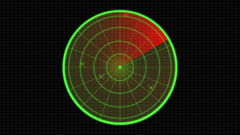 Sonar Radar enemy searching and invasion graphics user interface - 1