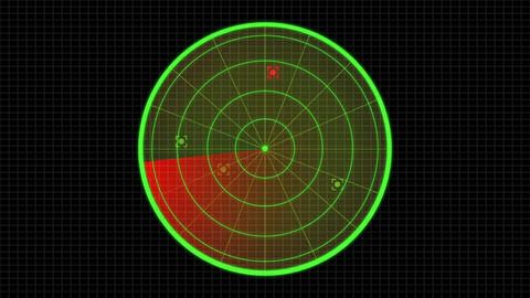 Sonar Radar enemy searching and invasion graphics user interface After Effects Template