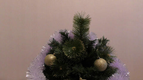 Decorate the Christmas tree Stock Video Footage