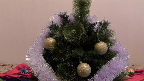 Decorate the Christmas tree Footage
