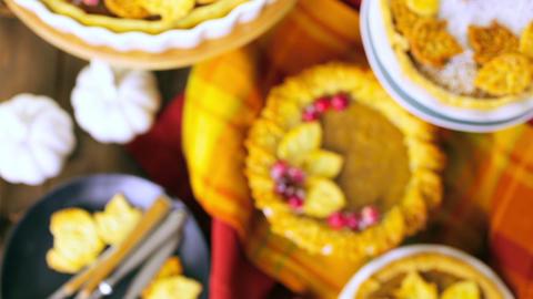 Pumpkin pie Stock Video Footage