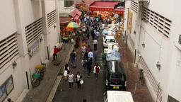 Citizen come through Wan Chai road to Bowrington Market area Footage