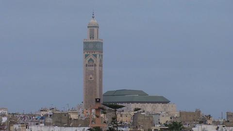 Hassan II Mosque Stock Video Footage