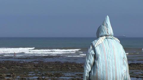 Islamic woman at beach Footage