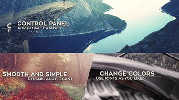 Parallax Slide - 3 Versions After Effects Projekt