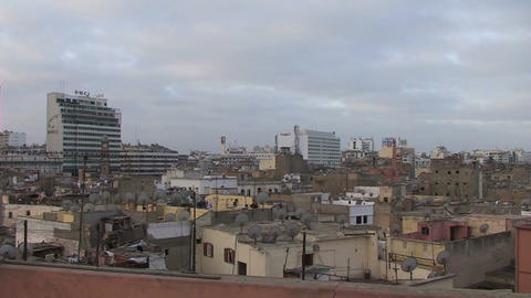 View over Casablanca Stock Video Footage