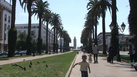 Boulevard Mohamed V, Rabat Stock Video Footage