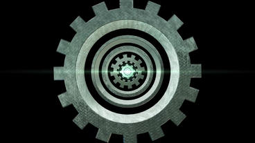Mechanical Gear zoom out animation for intro and logo reveal After Effects Template