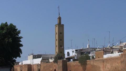 Walls of Old Medina, Rabat Stock Video Footage