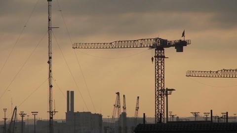 Building the city, Casablanca, sunrice Stock Video Footage