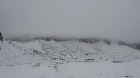 time lapse snowy dolomites three peaks 4k 11763 Stock Video Footage