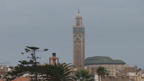 Hassan II Mosque Stock Video Footage