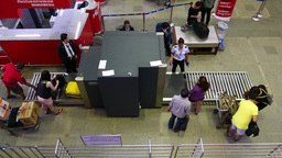 X-Ray radiograph screening bags security regulations international airport Footage