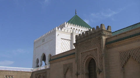 Mausoleum of Mohammed V Stock Video Footage