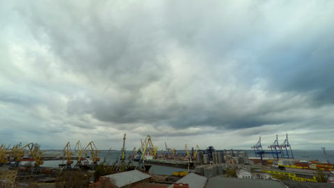 Sea Trading Port Activity Stock Video Footage
