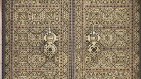 Door at Mausoleum of Mohammed V Footage