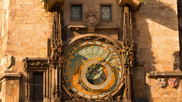 Ancient Astronomical Clock. Time Lapse 4K stock footage