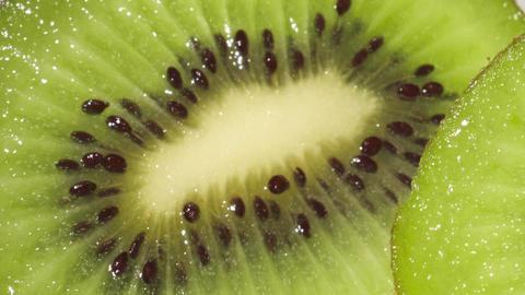 Sweet and Ripe Kiwi Fruit Footage