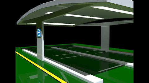 Electric Vehicle Charging Station without Charging Units 3D Model