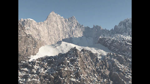 Mountain Peak 2 High Poly 3D Model 3Dモデル