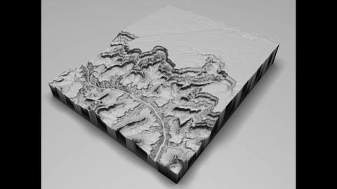 Grand Canyon Low Poly 3D 모델
