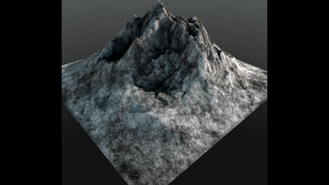 Mountain Peak Low Poly 3D Model