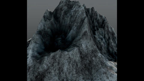 Mountain Peak Low Poly 3D Model
